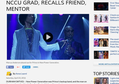Prince's sax player, an NCCU grad, recalls friend, mentor