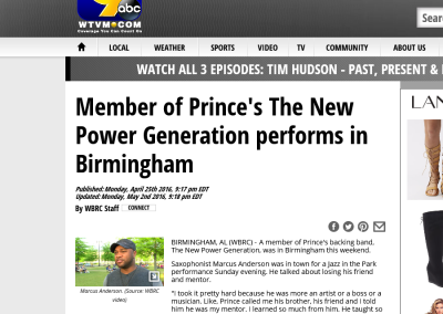Member of Prince's The New Power Generation performs in Birmingham