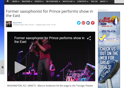 Former saxophonist for Prince performs show in the East