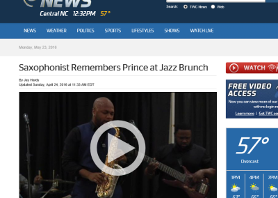 Saxophonist Remembers Prince at Jazz Brunch