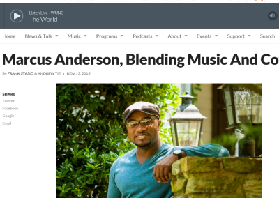 Marcus Anderson, Blending Music And Coffee