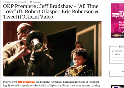 "OKP Premiere : Jeff Bradshaw – ""All Time Love"" (ft. Robert Glasper, Eric Roberson & Tweet) [Official Video]"