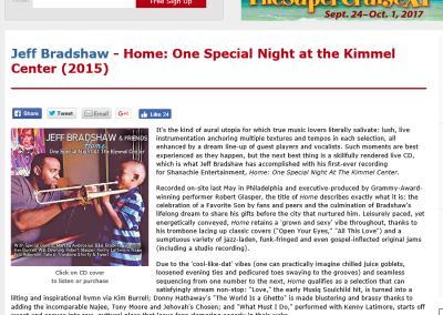Jeff Bradshaw – Home: One Special Night at the Kimmel Center (2015)