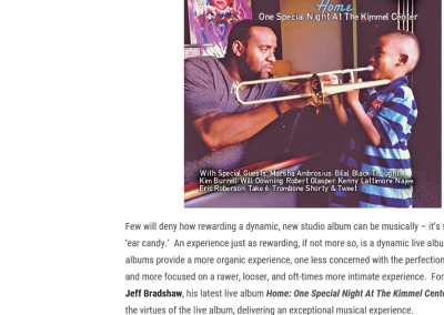Review: Jeff Bradshaw Delivers A Brilliant, Star-Studded Live Album With 'Home'