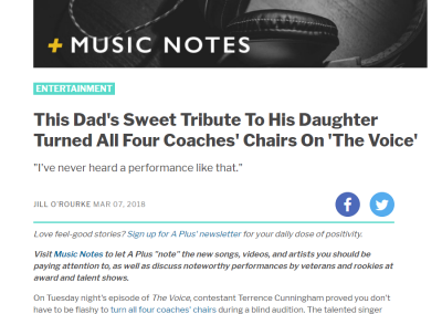 This Dad's Sweet Tribute To His Daughter Turned All Four Coaches' Chairs On 'The Voice'